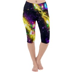 Galaxy Deep Space Space Universe Stars Nebula Lightweight Velour Cropped Yoga Leggings