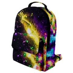 Galaxy Deep Space Space Universe Stars Nebula Flap Pocket Backpack (small)