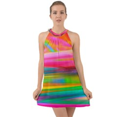 Abstract Illustration Nameless Fantasy Halter Tie Back Chiffon Dress by Jojostore