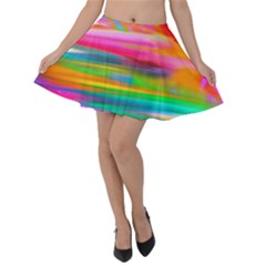 Abstract Illustration Nameless Fantasy Velvet Skater Skirt