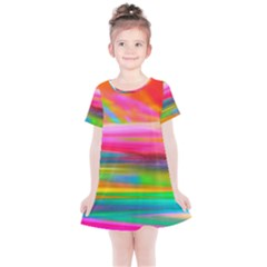 Abstract Illustration Nameless Fantasy Kids  Simple Cotton Dress