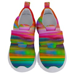 Abstract Illustration Nameless Fantasy Velcro Strap Shoes