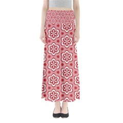 Floral Abstract Pattern Full Length Maxi Skirt