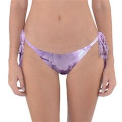 Wonderful Flowers In Soft Violet Colors Reversible Bikini Bottom by FantasyWorld7