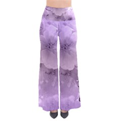 Wonderful Flowers In Soft Violet Colors So Vintage Palazzo Pants
