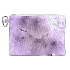 Wonderful Flowers In Soft Violet Colors Canvas Cosmetic Bag (xl) by FantasyWorld7