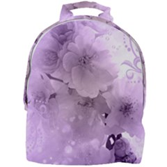 Wonderful Flowers In Soft Violet Colors Mini Full Print Backpack
