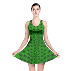 Forest Flowers In The Green Soft Ornate Nature Reversible Skater Dress by pepitasart