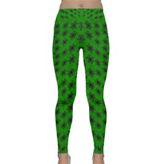 Forest Flowers In The Green Soft Ornate Nature Classic Yoga Leggings by pepitasart