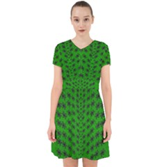 Forest Flowers In The Green Soft Ornate Nature Adorable In Chiffon Dress