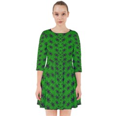Forest Flowers In The Green Soft Ornate Nature Smock Dress