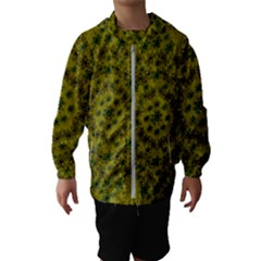 Flower Wreath In The Green Soft Yellow Nature Hooded Windbreaker (kids) by pepitasart