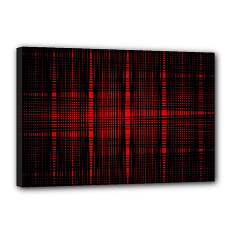 Black And Red Backgrounds Canvas 18  X 12  (stretched) by Jojostore