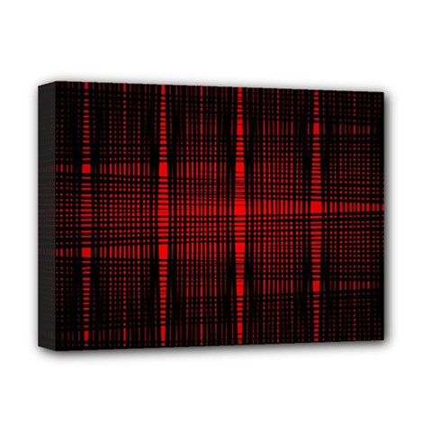 Black And Red Backgrounds Deluxe Canvas 16  X 12  (stretched)  by Jojostore