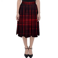 Black And Red Backgrounds Classic Midi Skirt