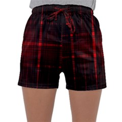 Black And Red Backgrounds Sleepwear Shorts