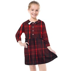 Black And Red Backgrounds Kids  Quarter Sleeve Shirt Dress by Jojostore
