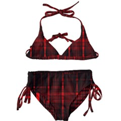 Black And Red Backgrounds Kids  Classic Bikini Set