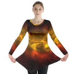 Galaxy Nebula Space Cosmos Universe Fantasy Long Sleeve Tunic