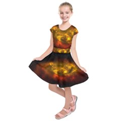 Galaxy Nebula Space Cosmos Universe Fantasy Kids  Short Sleeve Dress by Jojostore
