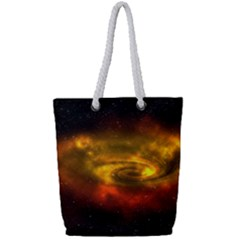 Galaxy Nebula Space Cosmos Universe Fantasy Full Print Rope Handle Tote (small) by Jojostore