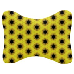 Yellow Fractal In Kaleidoscope Velour Seat Head Rest Cushion