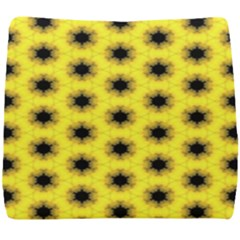 Yellow Fractal In Kaleidoscope Seat Cushion by Jojostore