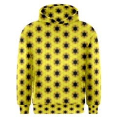 Yellow Fractal In Kaleidoscope Men s Overhead Hoodie
