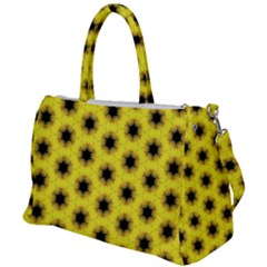 Yellow Fractal In Kaleidoscope Duffel Travel Bag by Jojostore