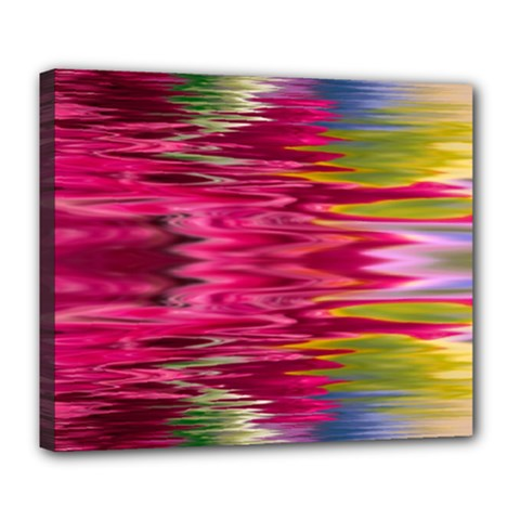 Abstract Pink Colorful Water Background Deluxe Canvas 24  X 20  (stretched) by Jojostore