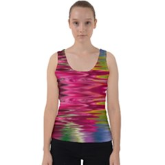 Abstract Pink Colorful Water Background Velvet Tank Top by Jojostore