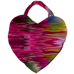 Abstract Pink Colorful Water Background Giant Heart Shaped Tote by Jojostore