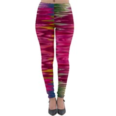 Abstract Pink Colorful Water Background Lightweight Velour Leggings by Jojostore