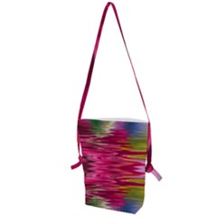 Abstract Pink Colorful Water Background Folding Shoulder Bag
