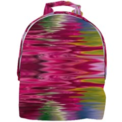 Abstract Pink Colorful Water Background Mini Full Print Backpack by Jojostore