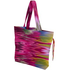 Abstract Pink Colorful Water Background Drawstring Tote Bag by Jojostore