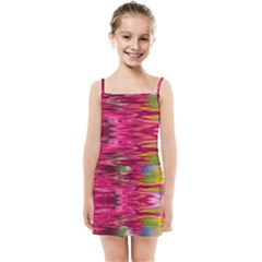 Abstract Pink Colorful Water Background Kids Summer Sun Dress