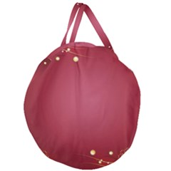 Red Background With A Pattern Giant Round Zipper Tote