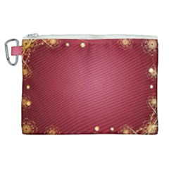 Red Background With A Pattern Canvas Cosmetic Bag (xl) by Jojostore
