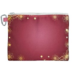 Red Background With A Pattern Canvas Cosmetic Bag (xxl) by Jojostore