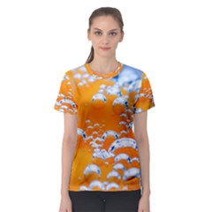 Bubbles Background Women s Sport Mesh Tee