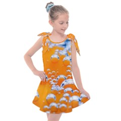 Bubbles Background Kids  Tie Up Tunic Dress