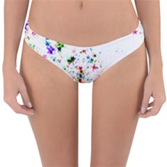 Star Structure Many Repetition Reversible Hipster Bikini Bottoms by Jojostore