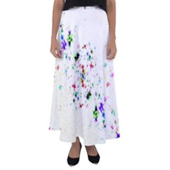 Star Structure Many Repetition Flared Maxi Skirt by Jojostore