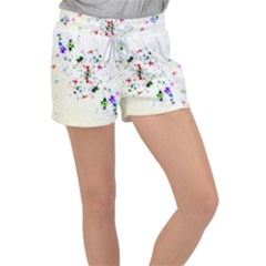 Star Structure Many Repetition Women s Velour Lounge Shorts