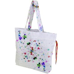 Star Structure Many Repetition Drawstring Tote Bag by Jojostore