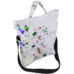 Star Structure Many Repetition Fold Over Handle Tote Bag by Jojostore