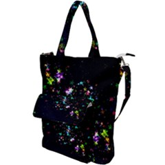 Star Structure Many Repetition Shoulder Tote Bag