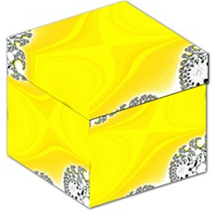 Fractal Abstract Background Storage Stool 12