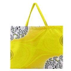 Fractal Abstract Background Zipper Large Tote Bag